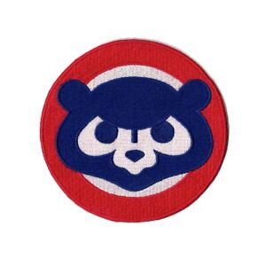 """Chicago Cubs 1984 """"Cubbie Face"""" Cooperstown Retro Round Sleeve Jersey Patch"""
