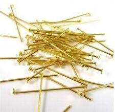 100pcs Gold Plated Head Pin & Needles 60mm