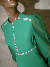 CHIC VINTAGE ROBE 1970 VTG DRESS 70s SEVENTIES KLEID 70er ABITO ANNI 70 (36)