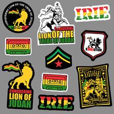 10x Lion of Judah Sticker decal vinyl rasta rastafari jamaica reggae car skate