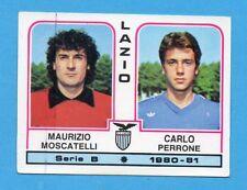PANINI CALCIATORI 1980/81 - Figurina n.398- MOSCATELLI+PERRONE-LAZIO -NEW