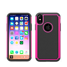 For Apple iPhone XS,X Case Hybrid ShockProof Defender Protective Rugged Cover