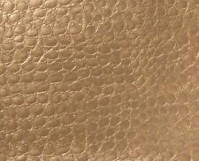 "Crocodile Vinyl Faux Leather Fabric Prints Animal Skin Upholstery 54"" Width"