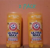Arm & Hammer UltraMax Antiperspirant Deodorant Solido  Powder Fresh 2.6 Oz.