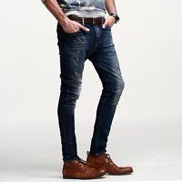 Nice!! Men Stretchy Jeans Pant Trousers Slim Straight Leg 28 29 30 31 32  34 36