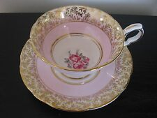ROYAL STAFFORD SOFT PINK ROSE TRIO BOTTOM TEACUP AND SAUCER