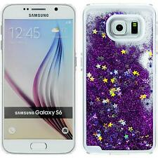 Hardcase Samsung Galaxy S6 Stardust purple Cover + protective foils