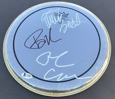 Green Day BILLIE JOE ARMSTRONG TRE COOL MIKE DIRNT Signed 10in Drumhead BAS LOA