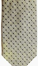 "Bergamo Men's Silk Tie 58.5"" X 4"" Gold/Black Geometric"