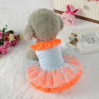 Cute Pet Dresses Puppy Dog Apparel Clothes Short Skirt Dress Small Dog Dresses