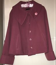 Ladies Women's Smart Warm Winter Wool Coat Jacket Size 16 Designer David Emanuel