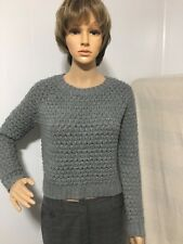 Forever 21, Women/Teen Knitting Sweater, Size M, Gray, Pre-owned, bin A1