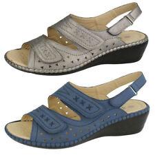 Sandali e scarpe casual blu sintetico per il mare da donna