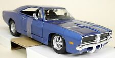 Maisto 1/25 Scale - 1969 Dodge Charger R/T Metallic Blue Diecast model car