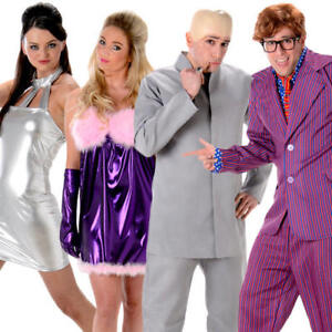Austin Powers Adults Fancy Dress 1960s Secret Agent Mens Ladies Womens Costumes