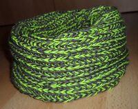 Großer Damen Loop Schal Strickschal Schlauchschal Neon-Grün-Gelb + Khaki 140 cm