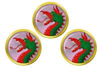 Héraldique Dragon's Tête Marqueurs de Balles de Golf