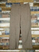 Artigiano Italy Ladies Brown Wool Blend Straight Trousers Size UK 10