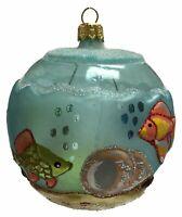 Aquarium Fish Bowl Round Ball Polish Glass Christmas Tree Ornament Made Poland