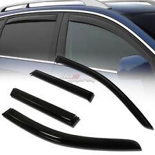 FOR 07-13 MIT OUTLANDER SMOKE TINT WINDOW VISOR SHADE/VENT WIND/RAIN DEFLECTOR