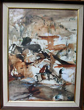 JUDY CASSAB b 1920  AUSTRALIAN MODERN ABSTRACT ART PAINTING LANDSCAPE EXHIBITED