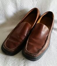 Mens Leather Cole Haan Nike Air Slip-On Shoes US Size 11 M Cordovan Brown Casual