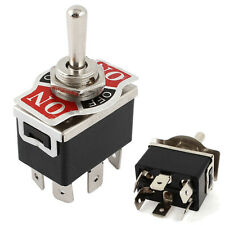 Vehicle6 Pin 3 Position On/Off/On DPDT Self-locking Switch 250V 15A