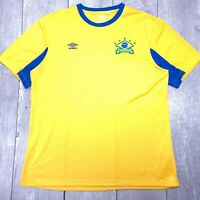 Umbro Brazil Brasil Soccer Football Jersey Mens XL Short Sleeve T127