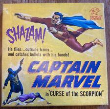 "Very Rare Vintage Captain Marvel 8mm Cine Film Reel ""Curse of the Scorpion"" 1941"