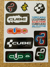 CUBE Bikes A4 Aufkleber Set