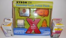 Xyron 150 Essential Tools Value Pack + Extra Cartridge & Disposable Sticker Make
