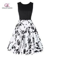 Grace Karin Vintage Sleeveless Patchwork Flare A-Line Party Picnic Summer Dress