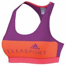 Adidas Stellasport McCartney Padded Gym Sports Bra Pop Purple Orange L 14 16 38