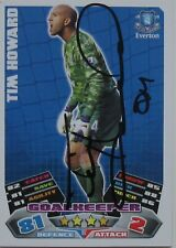 TIM HOWARD EVERTON Hand Signed MATCH ATTAX CARD.