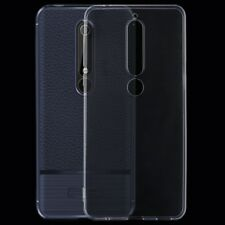 Nokia 6 2018 Silikoncase Etui Cover Hülle Bumper Soft Case Tasche Transparent