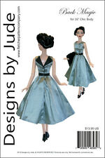 """Back Magic Doll Clothes Sewing Pattern 16"""" Chic Body Miette & Marley Tonner"""