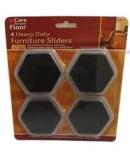 4 X Hexagonal Heavy Duty Furniture FRIDGE Sliders Slide mover MOVING Move Easily