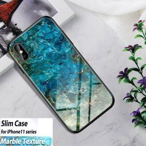 iPhone 6 7 8 Plus x xs 11 Pro Max Tempered Glass Hybrid TPU Back Bumper Case