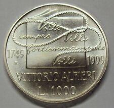 ITALIA REPUBBLICA 1999 1000 LIRE ALFIERI DA DIVISIONALE ZECCA FDC