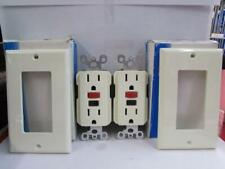 New Leviton Ground fault Circut Interrupter Almond Color Set Of Two ~107~