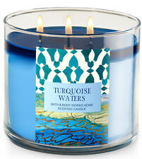 Bath & Body Works Turquoise Waters Three Wick 14.5 Ounces Scented Candle