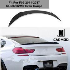Fit For F06 BMW 640i 650i 4 Door Gran Coupe 2011+ CARBON FIBER V REAR  SPOILER