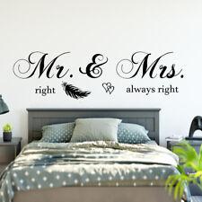 Wandtattoo Schlafzimmer Wandaufkleber Mr & Mrs right always right Spruch