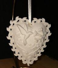Margaret Furlong-Love Song-Heart Shape-Hummingbird Ornament-1999-Valentine's Day