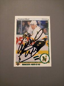 1990-91 Upper Deck Frantisek Musil North Stars Auto Autographed Signed Card