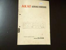 Original Service Manual Schaltplan Akai CS-F33R