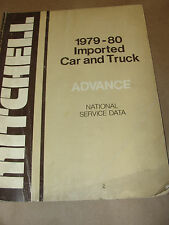 MITCHELL 1979-80 IMPORTED CAR & TRUCK ADVANCE NATIONAL SERVICE DATA