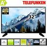 "Telefunken TV Fernseher 32 Zoll 80 cm LED 32"" Triple Tuner HD Ready DVB HDMI CI+"