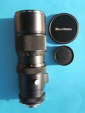 BELL & HOWELL LUMINA LENS 80->250mm. f/ 4.5 VINTAGE 2 CAPS, UV 1A, LEATHER CASE
