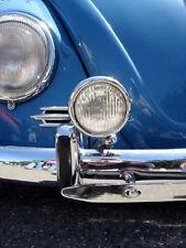 "VW H3 HALOGEN 12v 5"" VINTAGE CLEAR FOG LIGHTS CHROME BUG BUS KARMANN GHIA TYPE 3"